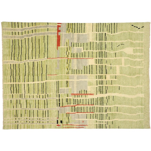 Contemporary Moroccan Area Rug - 10' X 13'08 For Sale - Image 9 of 10