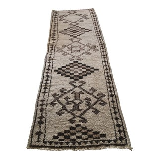 Antique Tribal Wool Runner Rug For Sale