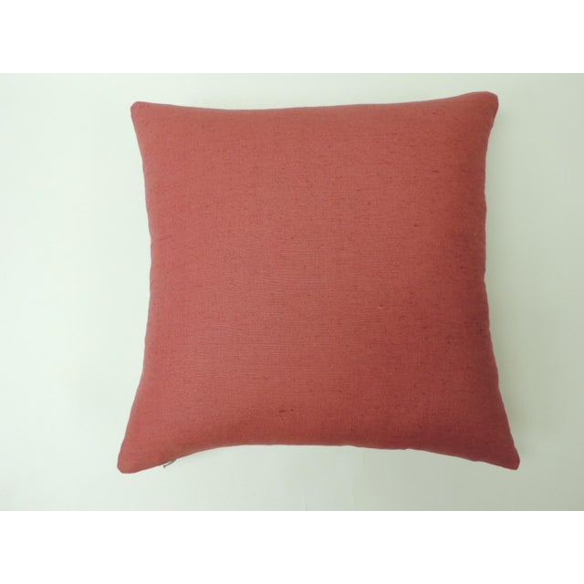 """Pair of Hand Printed """"Chandigarh"""" Paisley Multi-Color Decorative Pillows For Sale - Image 4 of 7"""