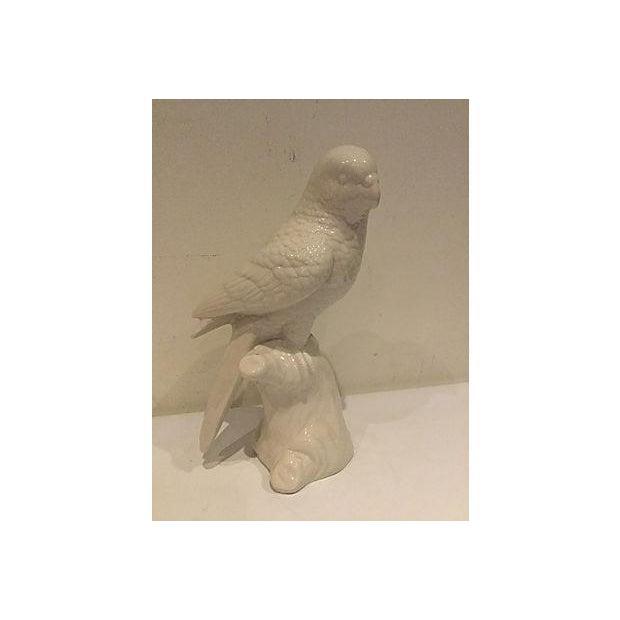 White Porcelain Parrot Figurine - Image 2 of 4