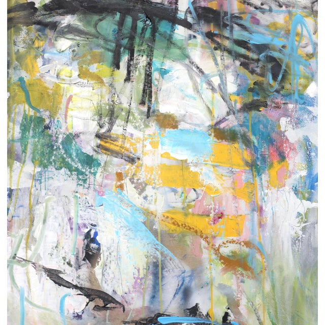 """2010s """"Push Past the Fear"""" Original Abstract Artwork by Lesley Grainger For Sale - Image 5 of 9"""