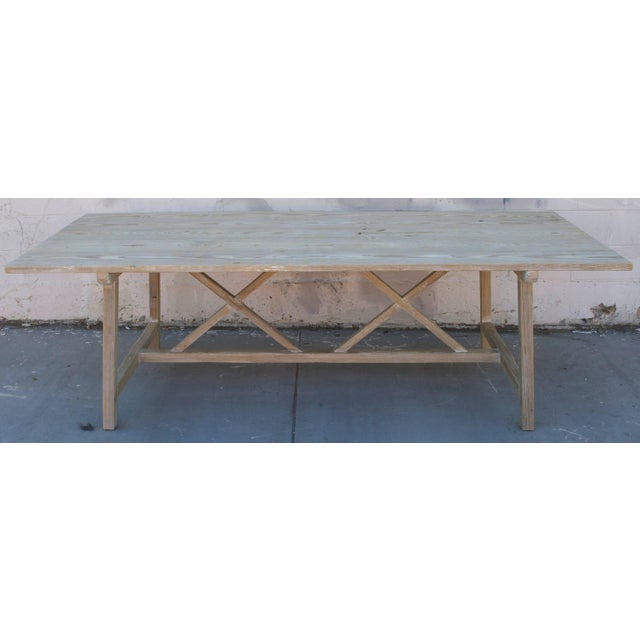 Farm or Harvest Table in Vintage Pine, Custom Made by Petersen Antiques For Sale - Image 10 of 11