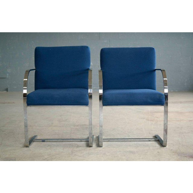 Pair of Brno Style Side Chairs in the Manner of Mies van der Rohe - Image 3 of 10