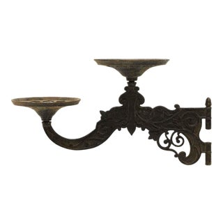 Victorian Cast Iron Gas Lamp Arm For Sale