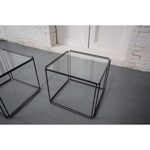Mid-Century Modern Pair of Minimalist Tables by Max Sauze For Sale - Image 3 of 7
