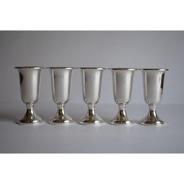 Sterling Silver Shot / Cordial Glasses - Set of 5 - Image 2 of 5