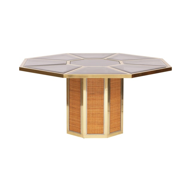 Hollywood Regency Italian Glam Octagonal Dining Table by Romeo Rega For Sale - Image 3 of 7