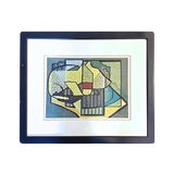 Image of Vintage Mid-Century Modern Abstract Lithograph Print For Sale