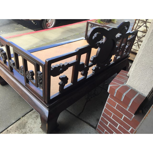 Antique Carved Opium Bed - Image 6 of 11