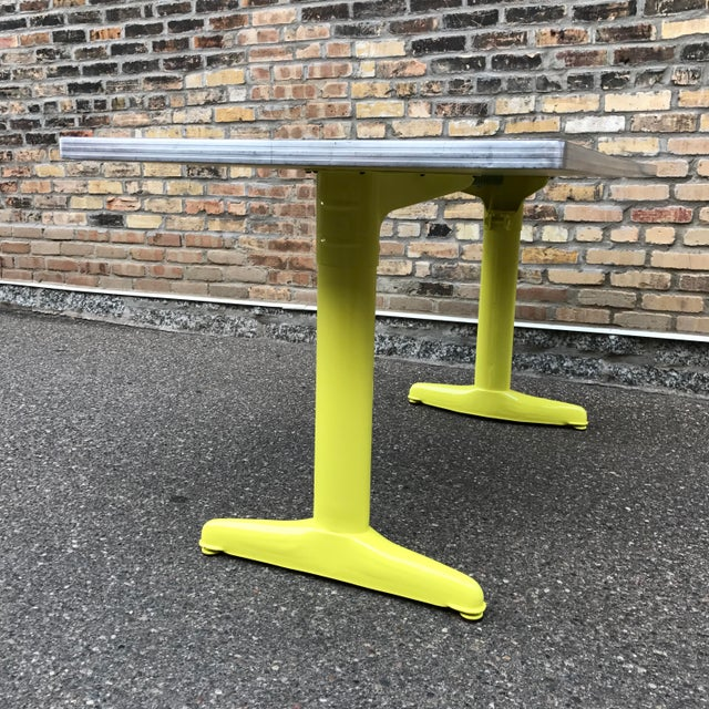 Vintage Industrial American Seating Co. Dining Table - Image 9 of 11