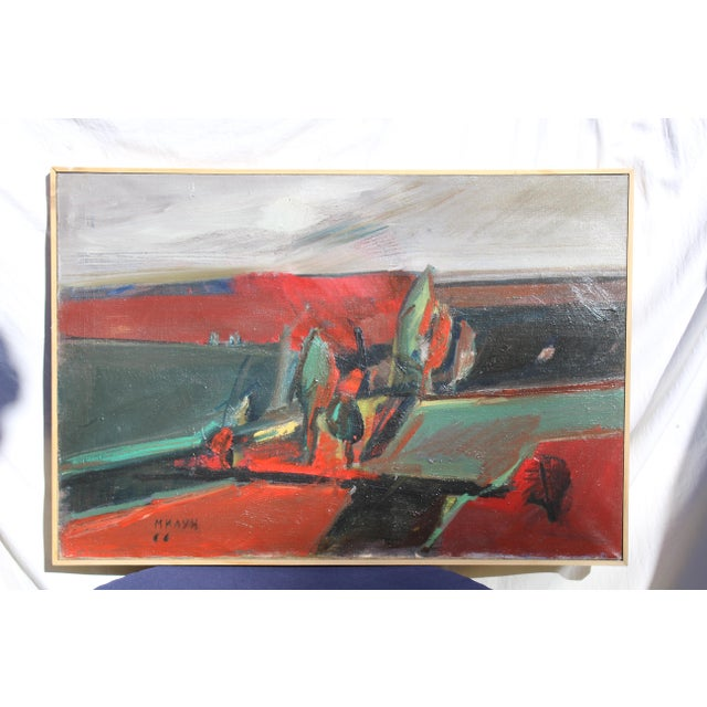 """Belgrade """"Vece"""" Oil Painting by Milun Mitrovic For Sale - Image 4 of 9"""