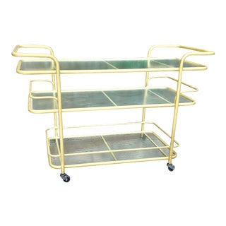 Richard Frinier for Brown Jordan Post Modern Bar Cart For Sale