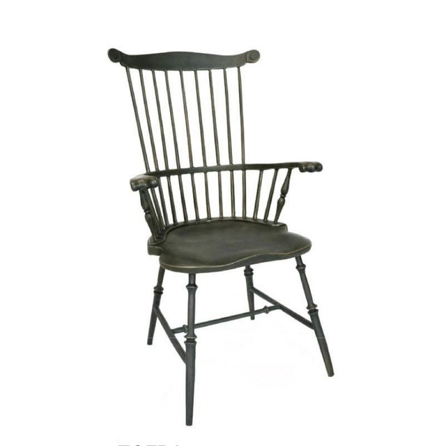 American Fanback Armchair Outdoor Chair in Harvest For Sale - Image 3 of 3