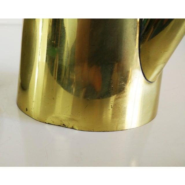 Mid-Century Brass & Teak Coffee Server For Sale - Image 5 of 6