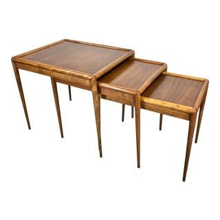 t.h. Robsjohn-Gibbings Nesting Tables for Widdicomb - Set of 3 For Sale
