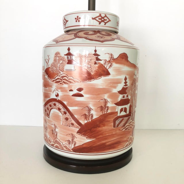 Asian Norman Perry Chinoiserie Ginger Jar Style Lamp For Sale - Image 3 of 13