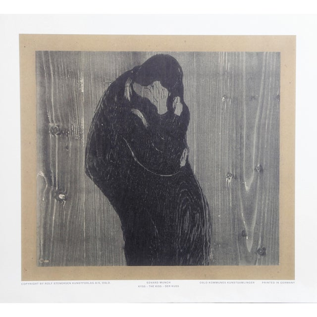 1960s Edvard Munch, the Kiss, Poster For Sale - Image 5 of 5