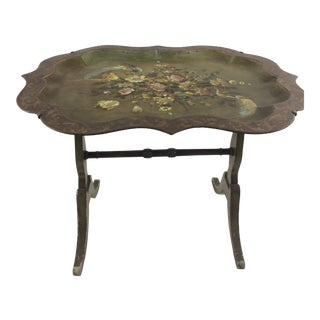 Italian Tole Tray With Stand