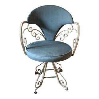 1960s Vintage Seng Chicago Wrought Iron Bikini Swivel Chair For Sale