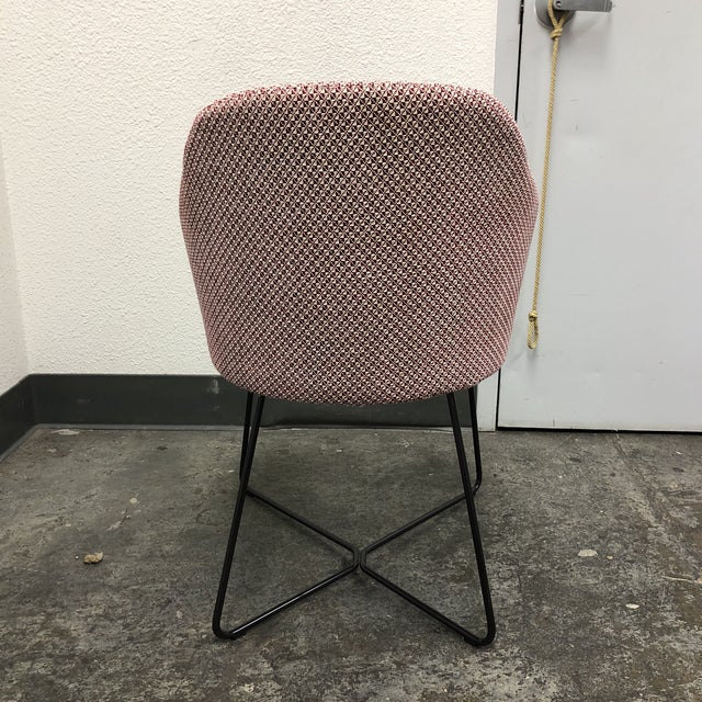 Red Minotti Rudolfo Dordoni Leslie Side Chair For Sale - Image 8 of 11