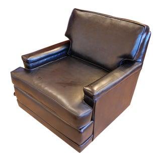 Mid-Century Black Vinyl Club Chair For Sale