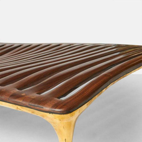 2010s Daybed in Brass and Walnut by Valentin Loellmann For Sale - Image 5 of 9