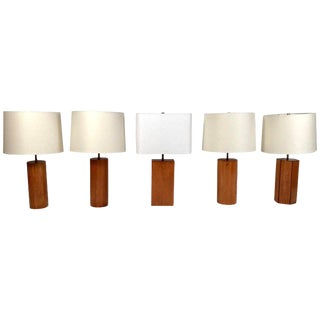 Stewart Ross James Table Lamps - Set of 5 For Sale