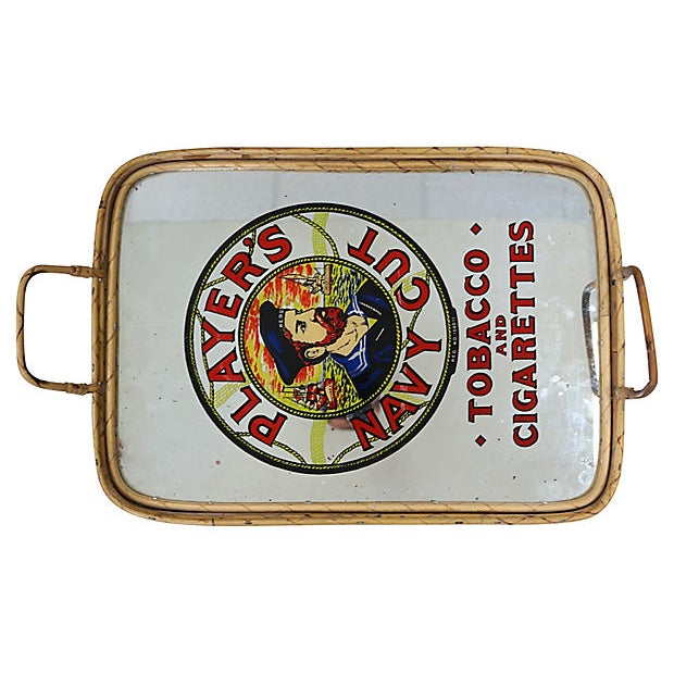 1960s English Cigarette Advertising Pub Tray For Sale - Image 4 of 5