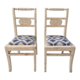 Vintage Tessellated Bone Small Side Chairs - a Pair For Sale