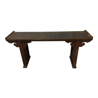 Early Huanghauli Chinese Scroll Writing Table For Sale