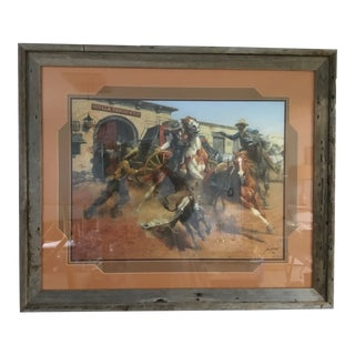 "Andy Thomas ""The Burro and the Bad Men"" Wild West Cowboy Print For Sale"