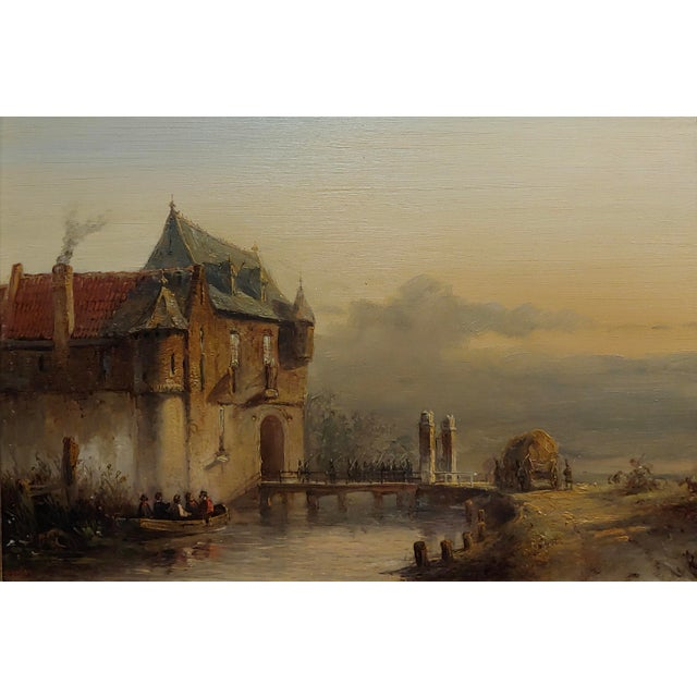 """Realism 19th Century Dutch """"Soldiers Entering a Castle"""" Oil Painting by Petrus Gerardus Vertin For Sale - Image 3 of 9"""