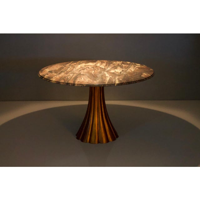 Fantastic Tulip Marble Dining Table Cast Metal Italy 1960s For Sale - Image 6 of 13