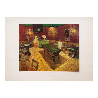 "1950s Vincent Van Gogh, ""The Night Cafe"" First Edition Vintage Lithograph Print For Sale"