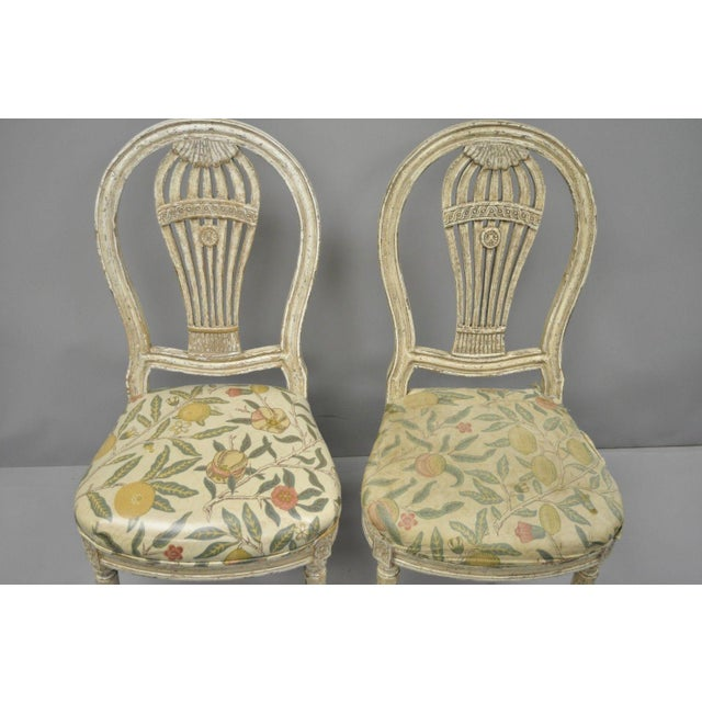 20th Century Louis XVI French Style Hot Air Balloon Back Dining Chairs - Set of 6 For Sale In Philadelphia - Image 6 of 13