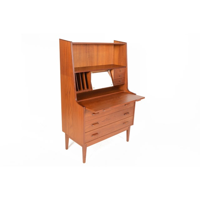 Danish Modern Secretary With Bookcase in Teak - Image 5 of 9