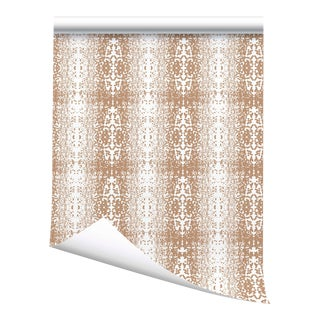 "Victoria Larson Stardust Grasscloth Wallpaper - Gold - 34x36"" For Sale"