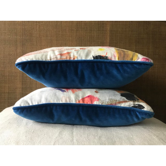 2010s Pierre Frey Arty Pillows - a Pair For Sale - Image 5 of 6