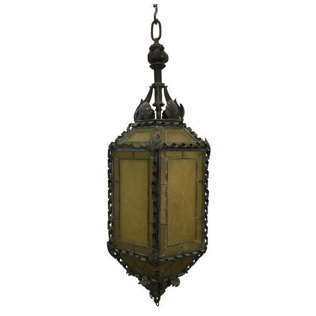 1920s American Copper & Bronze Lantern For Sale In Atlanta - Image 6 of 6