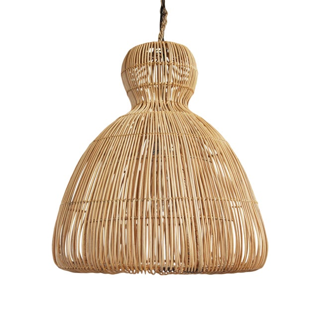 Rattan Mushroom Lantern Small For Sale