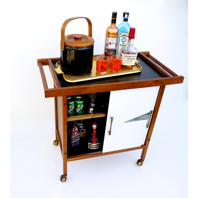 Mid-Century Danish Modern Teak Bar Cart - Image 11 of 11