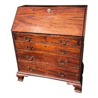 Antique 18th Century George III Slant Front Secretary Desk For Sale