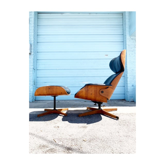Black Mid Century Plycraft Mr Chair Lounge For Sale - Image 8 of 9