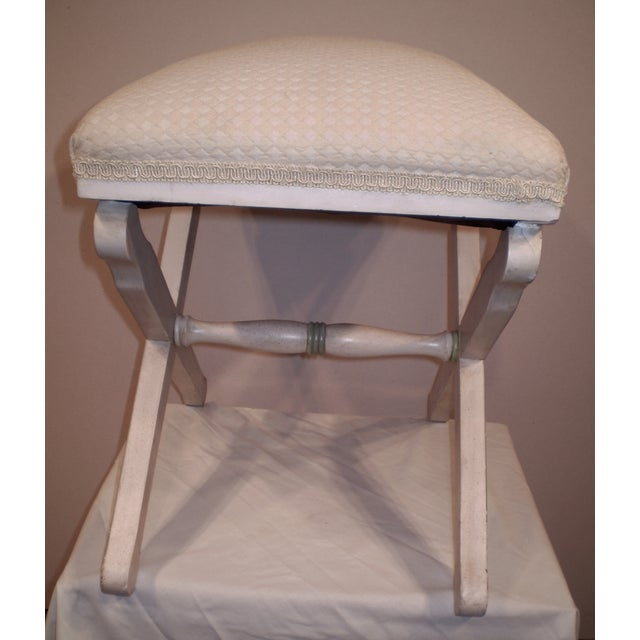 Upholstered X-Base Stool - Image 3 of 4