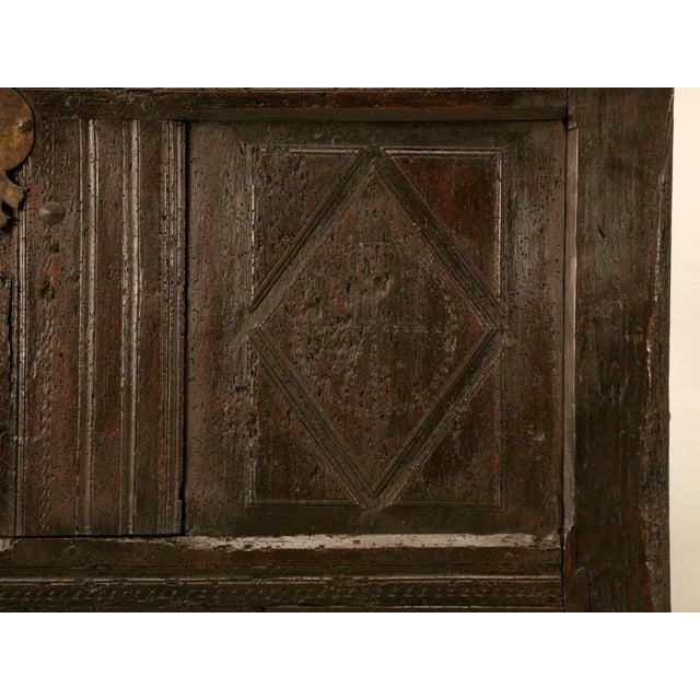 Antique French Carved Two-Panel Coffer For Sale - Image 10 of 11