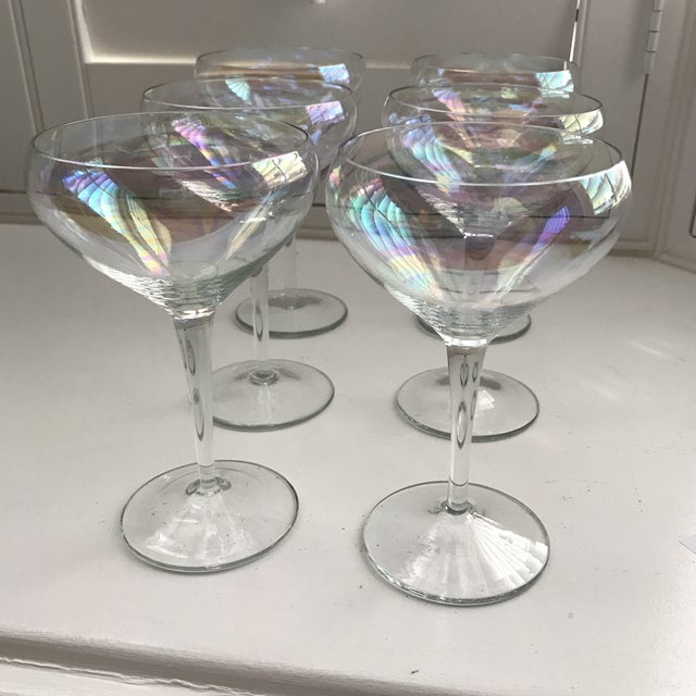 Opalescent Champagne Coupes - Set of 6 - Image 3 of 8