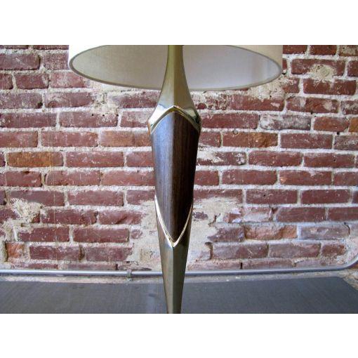 Laurel Lamp Company Tall Sculptural Art Deco Laurel Table Lamp For Sale - Image 4 of 8