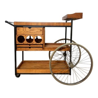 Mid-Century Modern Arthur Umanoff Bar Cart Outdoor Barbeque Serving Trolley For Sale