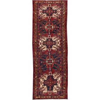 "Apadana - Antique Persian Fine Heriz Rug, 3'8"" x 10'7"" For Sale"