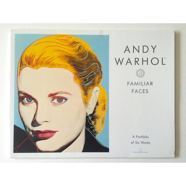 "This Andy Warhol Estate rare vintage 1989 "" Familiar Faces "" portfolio of six collector's Pop Art offset lithograph prints..."